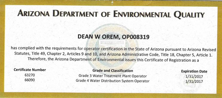 Arizona Department of Environment Quality
